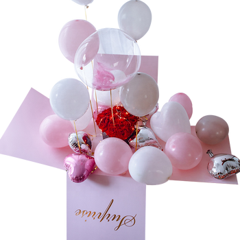 Wedding Romantic Engagement Party Paper Balloons Surprise Gift Box