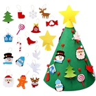 Best sales handmade felt new years gifts xmas accessories christmas tree for kids