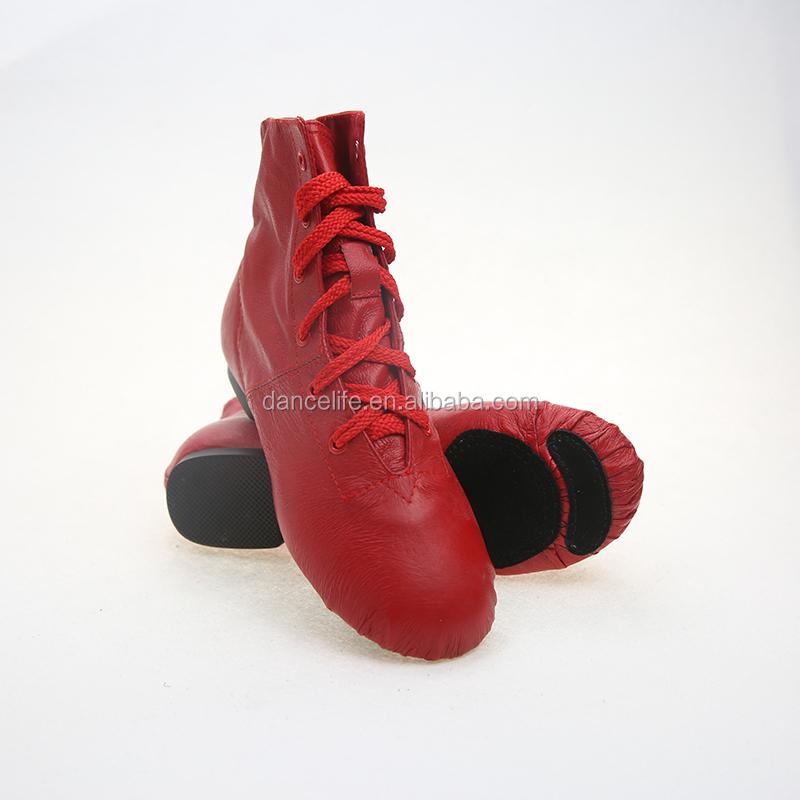 bottines de jazz rouge
