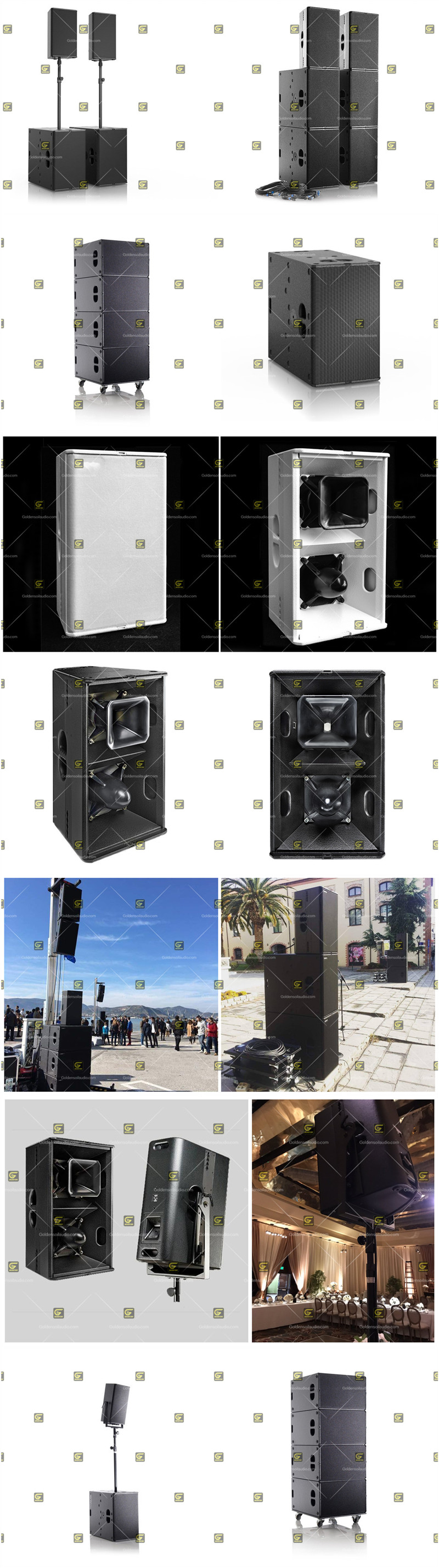 Audio T24 T24N Double 12 Inch Array Speaker DJ Music Equipment Loudspeaker System