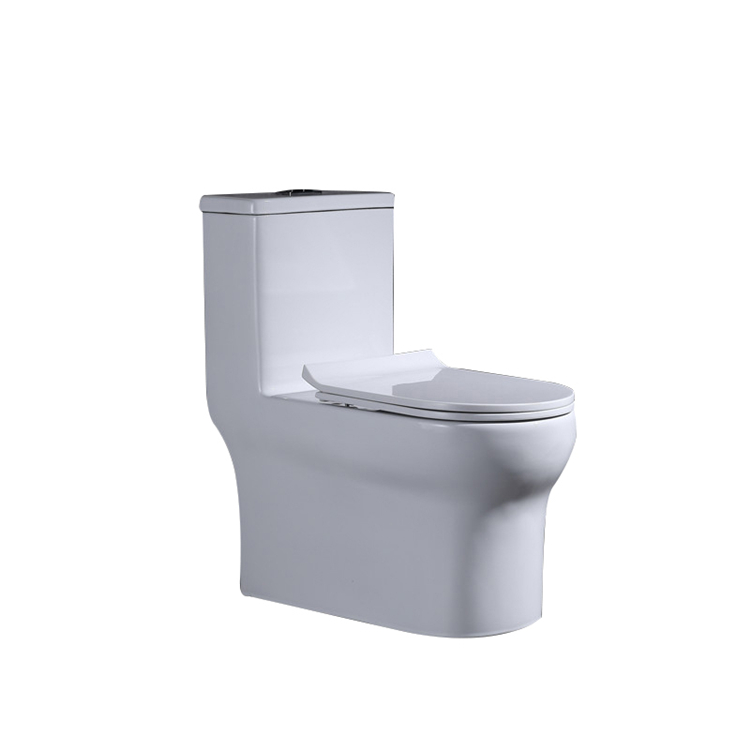 Dual-flush modern white siphonic one piece s-trap wc hotel toilet