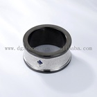 Ring Titanium Diamond Rings Newly Jewelry Black Ring Titanium Stainless Steel Spinner Ring With Diamond Zircon