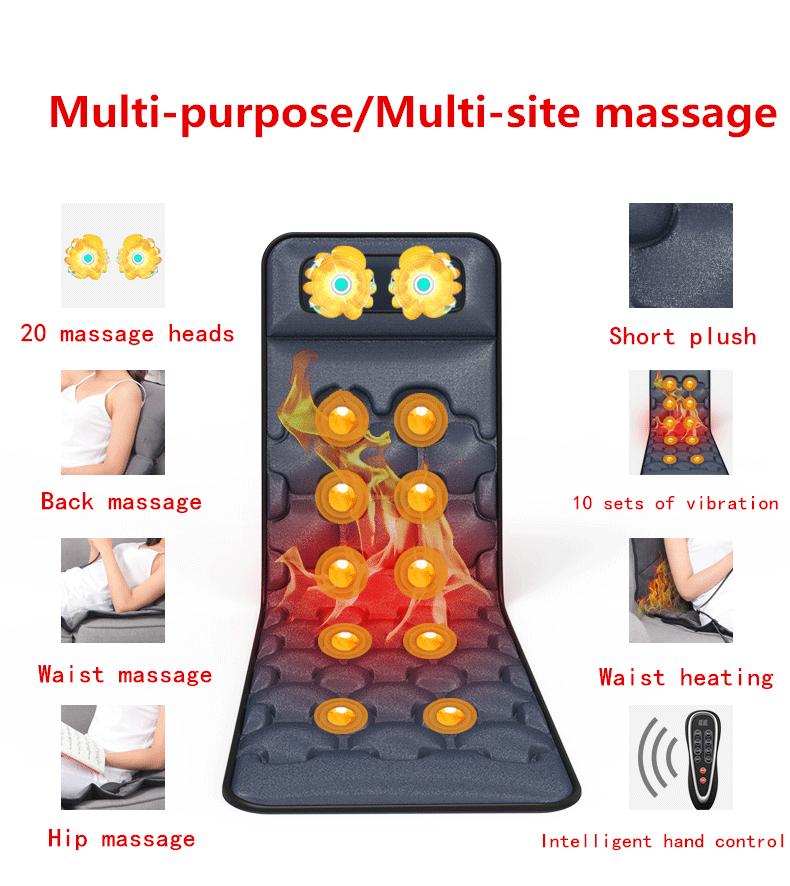Christmas Presents Shiatsu Massage Cashion Adjustable Seat Back Shoulder Rolling Massage,Kneading Bearing Heating Infrared