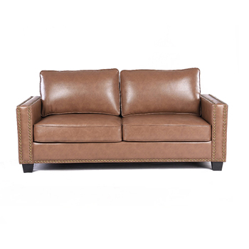 Upsable Fully Kd Upholstered Sofa Air Leather Settee Couch 3-steater Sofa  With Removable Back And Seat Cushion - Buy Leather Kd Sofa,Leather And Wood  ...