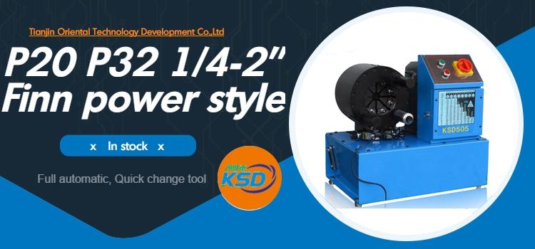 Finn power automatische P20 1/4-2 zoll P32 schlauch crimper hochdruck hydraulische schlauch crimpen maschine