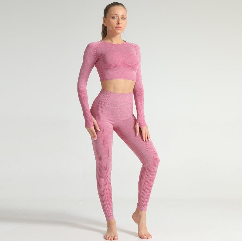 Wholesale Fitness Yoga Wear 5PCS Seamless Workout Women Gym Sets