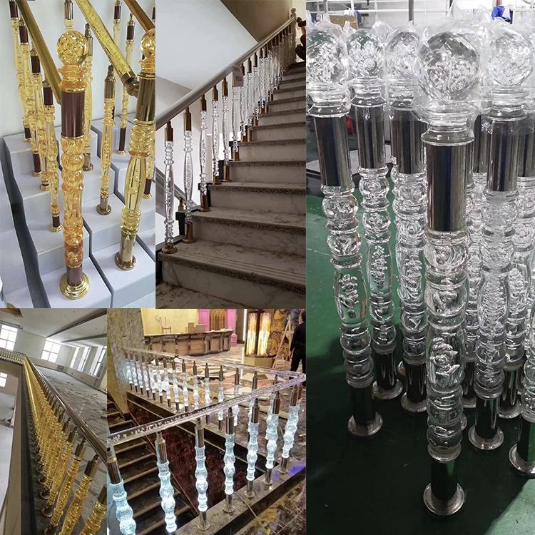 304 316 staircase banister balcony baluster stainless steel glass handrail railing balustrade for fence post deck