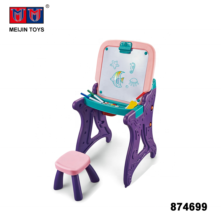 painting learning table drawing board for kids toy with chair