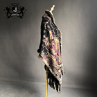 High Quality real rex rabbit fur cashmere shawl cape for women winter