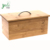 Modern Bamboo Bread Box Large Bread Bin Countertop Storage Container