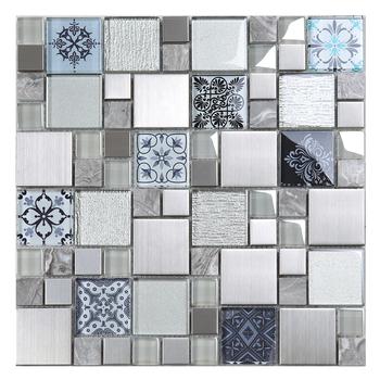 Mix Metal Marble Mosaic Tiles