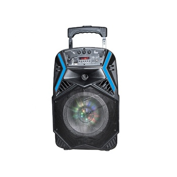 "new outdoor portable trolley 8"" speaker with USB/FM/BT MINI SPEAKER"