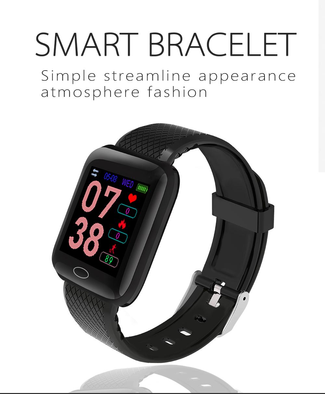 Fitness Wristband Heart Rate Monitoring Watch Sport Smart Bracelet