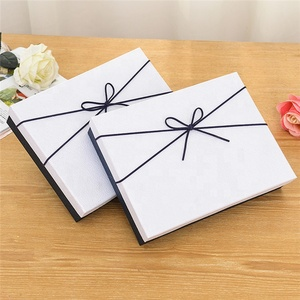 Good quality premium custom color paper cardboard gift box with ribbon closure