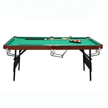 6ft cheap foldable iron legs snooker pool billiard table with free accessory