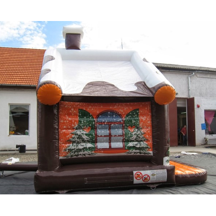 Outdoor commercial snow inflatable bouncer for christmas