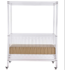 Luxury acrylic baby crib bed, baby furniture, knock down baby crib