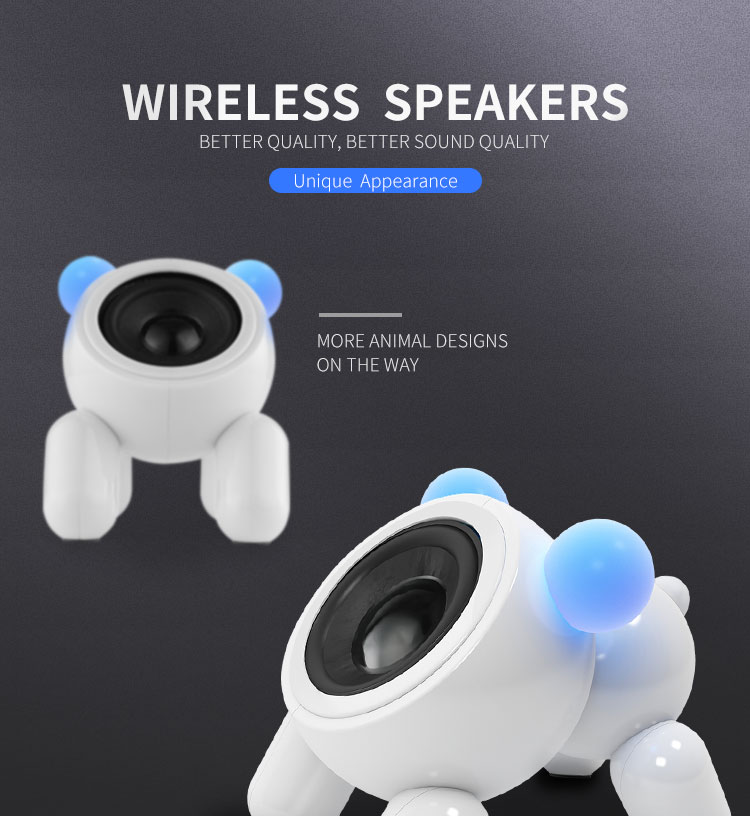 Cartoon puppy bluetooth mini stereo cute wireless home phone notebook outdoor portable creative small speaker