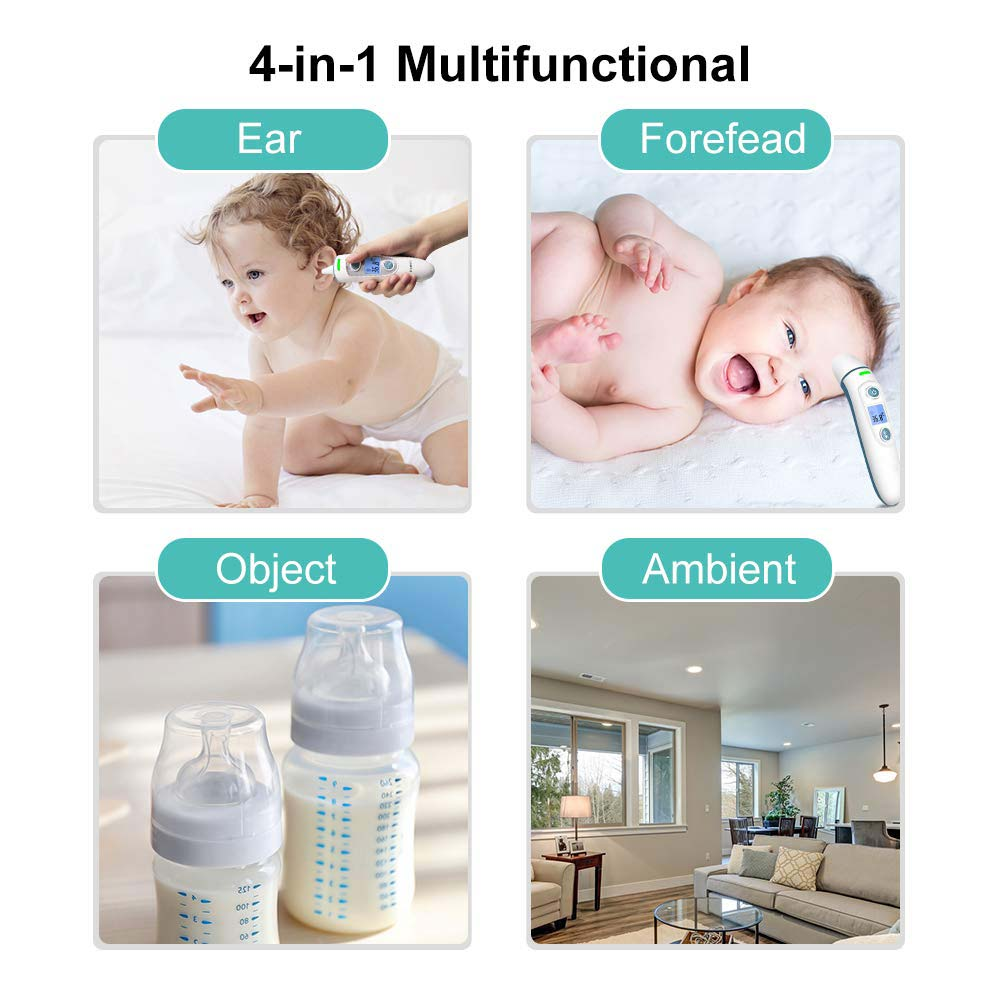 Finicare baby thermometer ir lcd infrared dual mode ear and forehead adult body thermometer with alarm function measure
