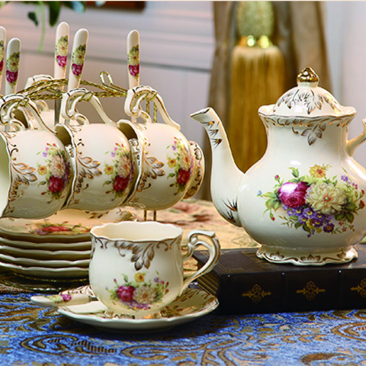 Wholesale Promotion <strong>Tea</strong> <strong>Set</strong> Ceramic With Teapot Bone China <strong>Tea</strong> <strong>Set</strong> <strong>Porcelain</strong>