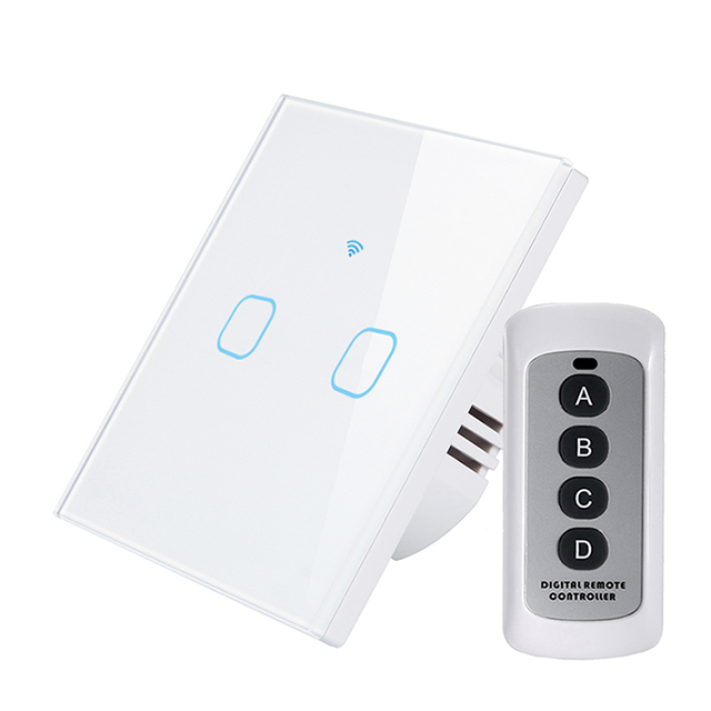 EU UK Standard WiFi Smart Voice Remote Control Wall Light Touch Switch