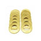 Large diameter decorative shim fender screw m3 m3.5 m5 industrial copper gold thin flat round brass washers