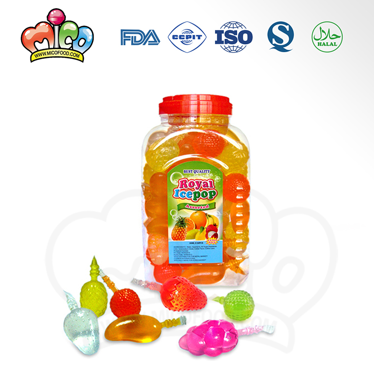 Tik Tok custom packaging mixed mini juice assorted pudding squeeze fruit shape jelly