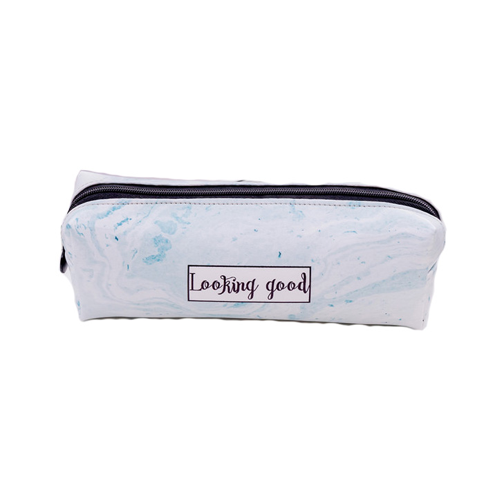 product-New arrival fashion Cute Pencil Case Marble Pattern PU Pen Bag Pencil Box Pencil Case Statio-1