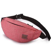 сумка поясная Поясная повседневная сумка-унисекс TINYAT, холщовая сумка на пояс для хранения денег и телефона, функциональная набедренная сум...(Китай)