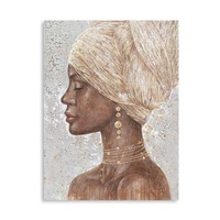 Custom 100% artist hand fashion african woman oil painting