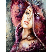 Dropshipping Beautiful Women Portrait DIY Painting By Numbers Kits Coloring Paint By Numbers Modern Wall Art Picture