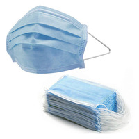 Nicro Blue Earloop Mouth Cover 3 Ply Dust Flu Protective Respirator Disposable Face Mask