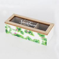 Decoration Wooden Box+Custom Color Fashion Wooden Jewelry Box+Glass Printed Coved Wooden Storage Box