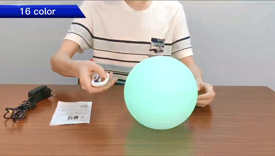 Huajun de fábrica Venta caliente led de bola/Piscina/bola recargable lámpara de bola para la venta