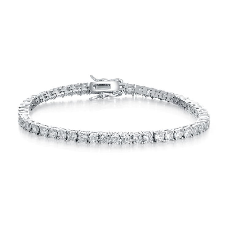 Luxury Jewelry 925 sterling silver 3mm round AAA cubic zircon <strong>CZ</strong> <strong>tennis</strong> <strong>bracelet</strong> diamond <strong>tennis</strong> <strong>bracelet</strong> for woman