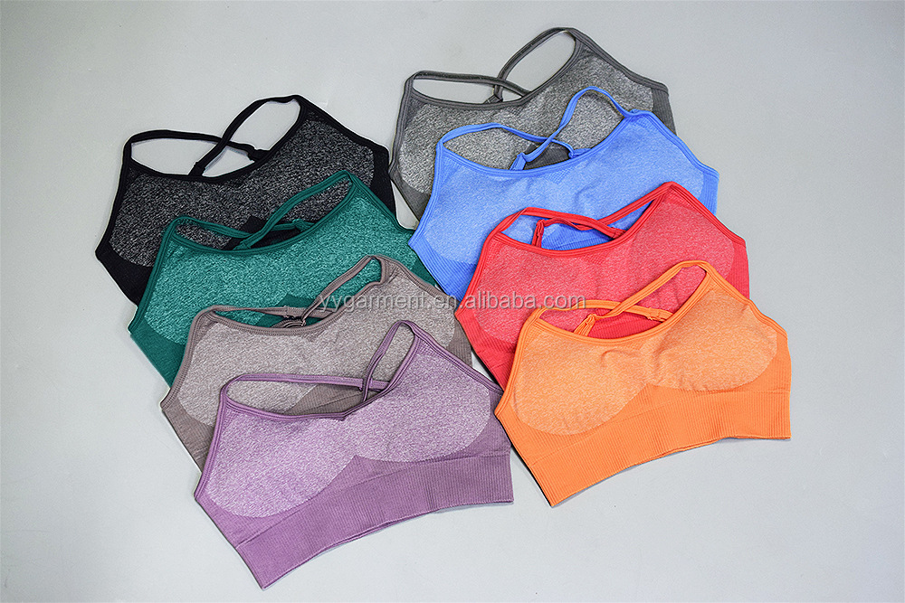 New Colour Gym Seamless Leggings And Bra Yoga Set For Women