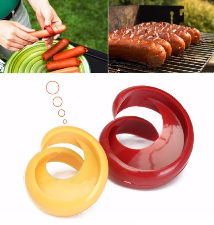 2 pcs Manual Fancy Sausage <strong>Cutter</strong> Spiral Barbecue <strong>Hot</strong> <strong>Dogs</strong> <strong>Cutter</strong> Slicer kitchen Cutting Auxiliary Gadget Fruit Vegetable Tools