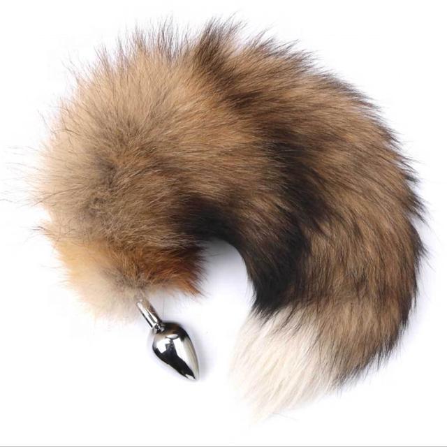 Plug Anal en métal queue de renard   Animal Long, étendre les fesses, Plug pour femmes et hommes, jouets sexuels amusants adultes