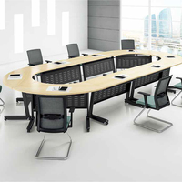 modern folding round 12 people oval office meeting table