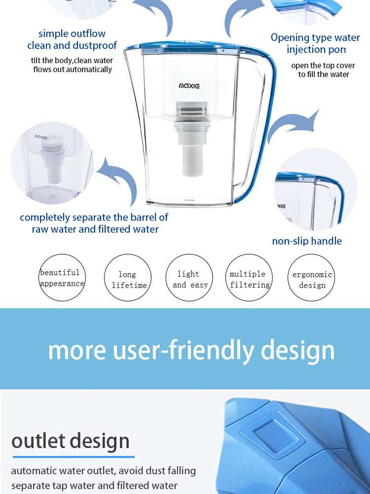 hollow fiber membrane inzone water bottle drinking and filtering kettle plastic kettle