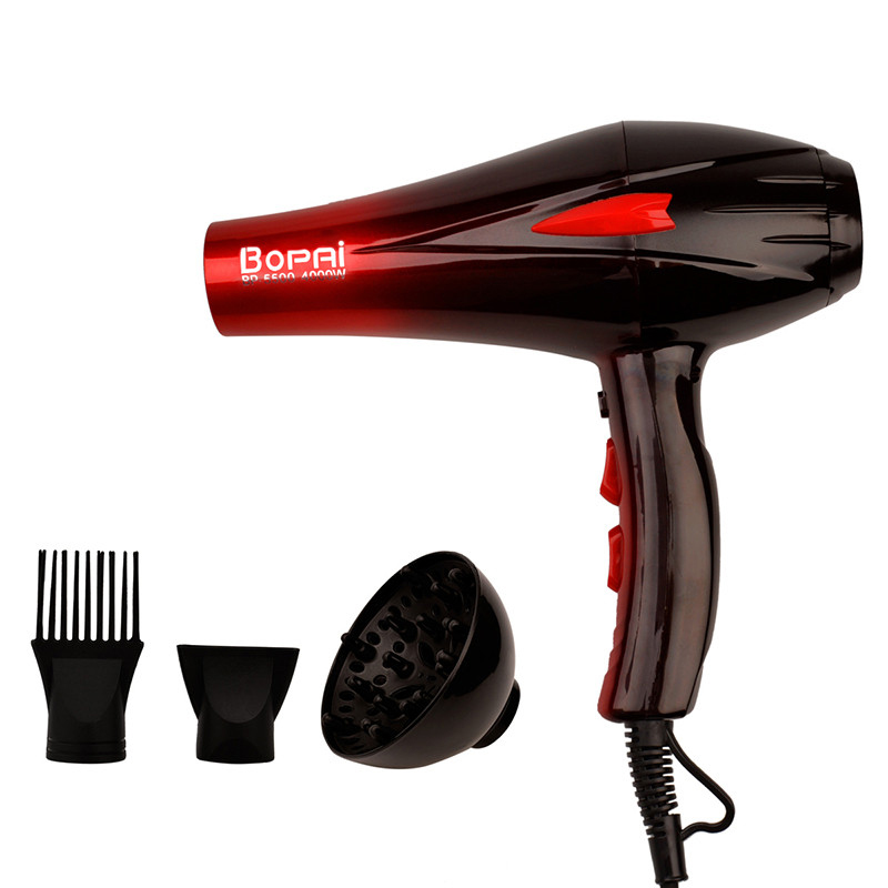 4000W Professional Travel <strong>Hair</strong> <strong>Dryer</strong> <strong>Diffuser</strong> Electric Rotating Blow Hairdryer <strong>Hair</strong> Styling Tools For Hairdressing Salon+Nozzle