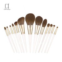 skin care high quality cosmetic brush wood hand makeup brush set luxury soft makeup
