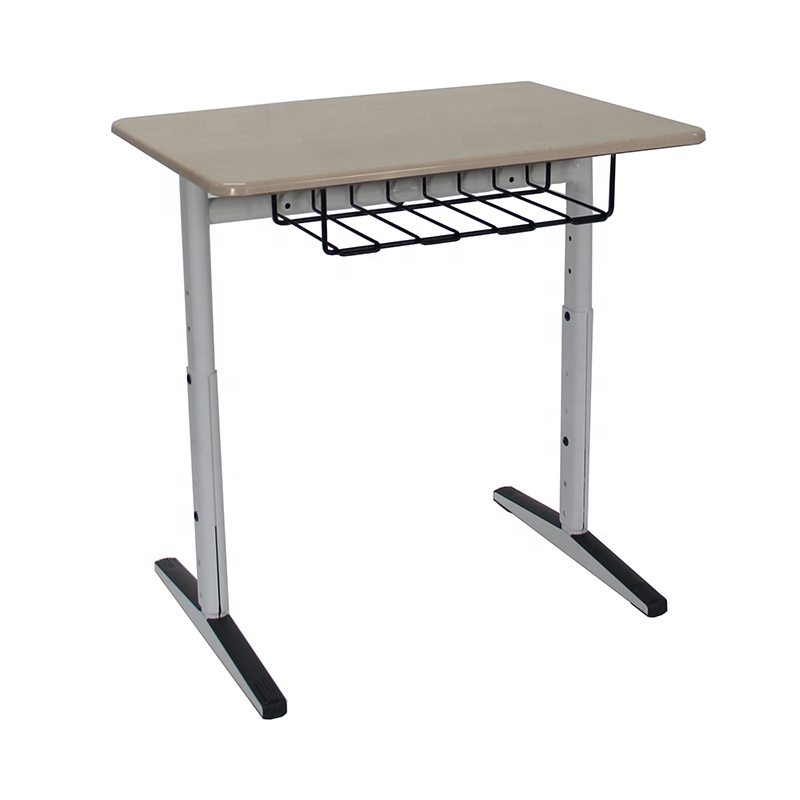 single high quality school student height adjustable desk