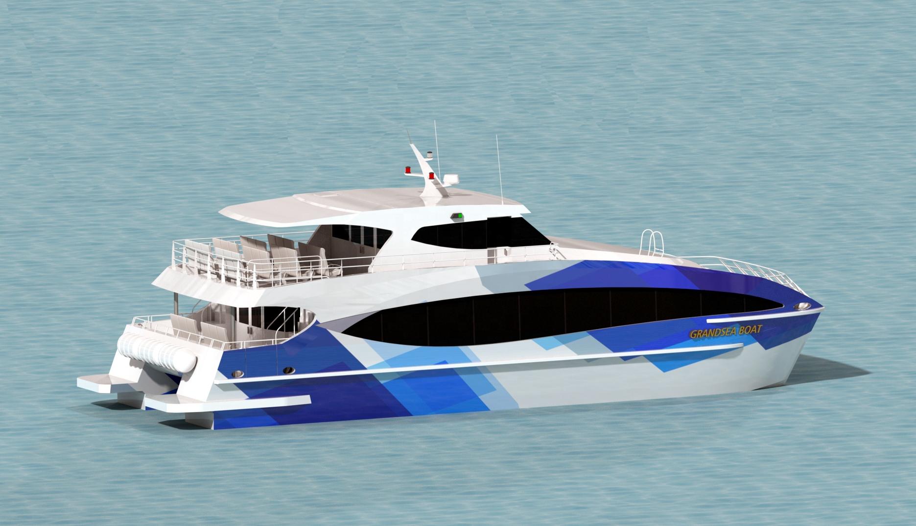 Grandsea de aluminio 100 Pax catamarán Ferry de pasajeros de los fabricantes