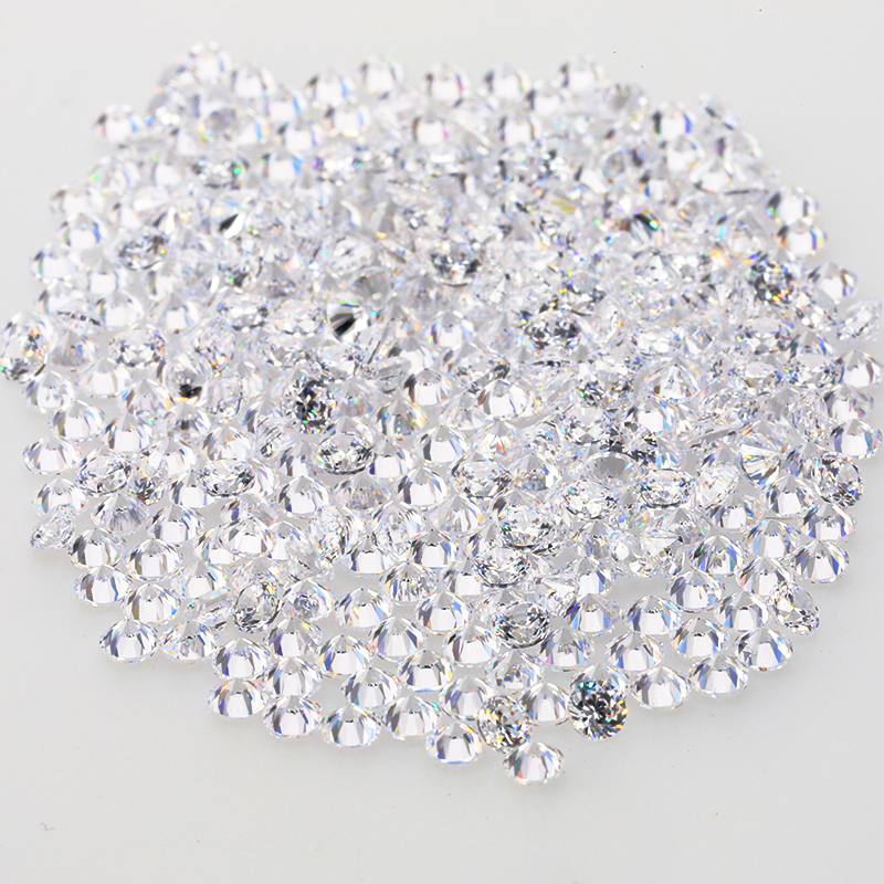 Starsgem aaaaa round cz 1.9mm white cubic zirconia stone for jewelry