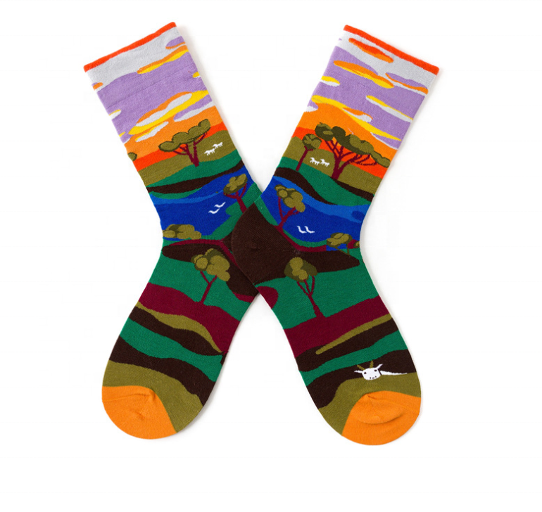 Custom Socks with Dot Pattern Socks Cotton Design Socks