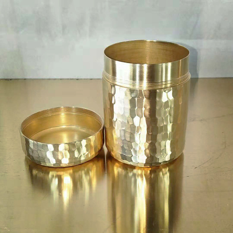 Copper Tea Coffee Sugar Toothpick Hammered Canister For Kitchen