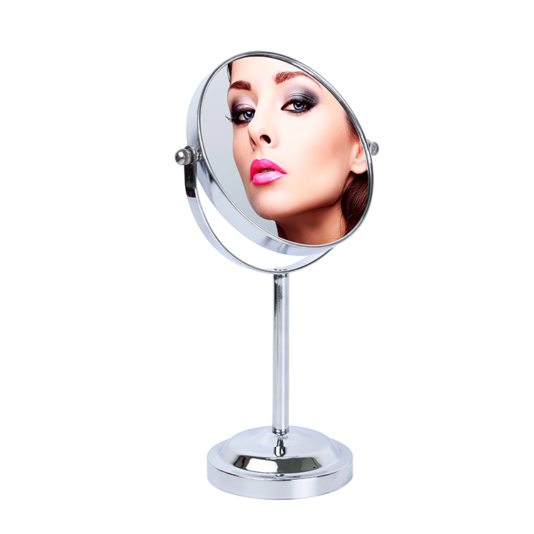 Good quality factory stand magnifying vanity table desktop bathroom makeup mirror with LED lights