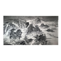 100 % Handmade customized landscape traditional chinese ink painting mountains-and-waters painting