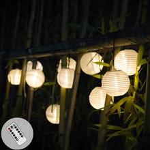Рождественское сказочное освещение, светодиодные гирлянды, садовые украшения, фонарь, уличная гирлянда, дистанционное управление, Солнечн...(Китай)